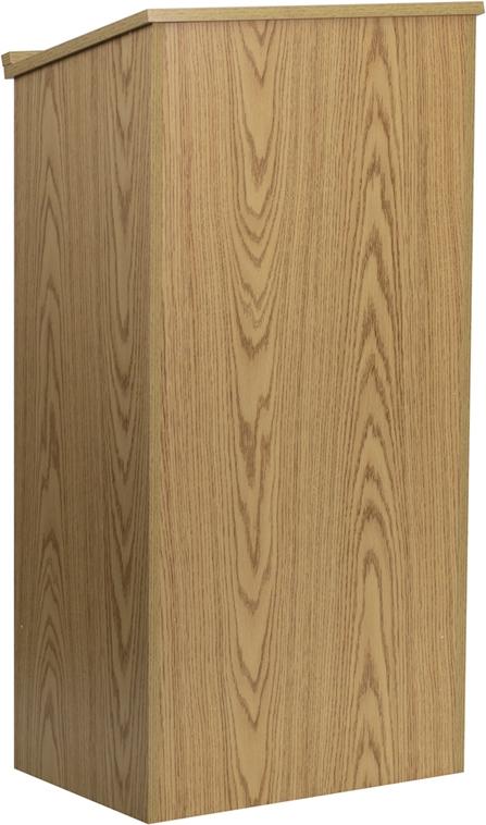 Flash Furniture  Oak Stand-Up Lectern [MT-M8830-LECT-OAK-GG]